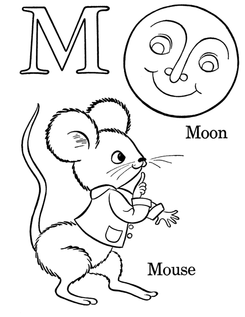 Hình tô màu cho bé - chữ M