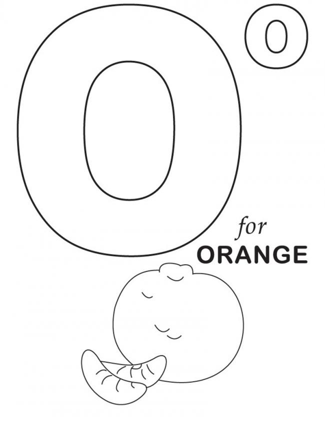 Hình tô màu cho bé - chữ O