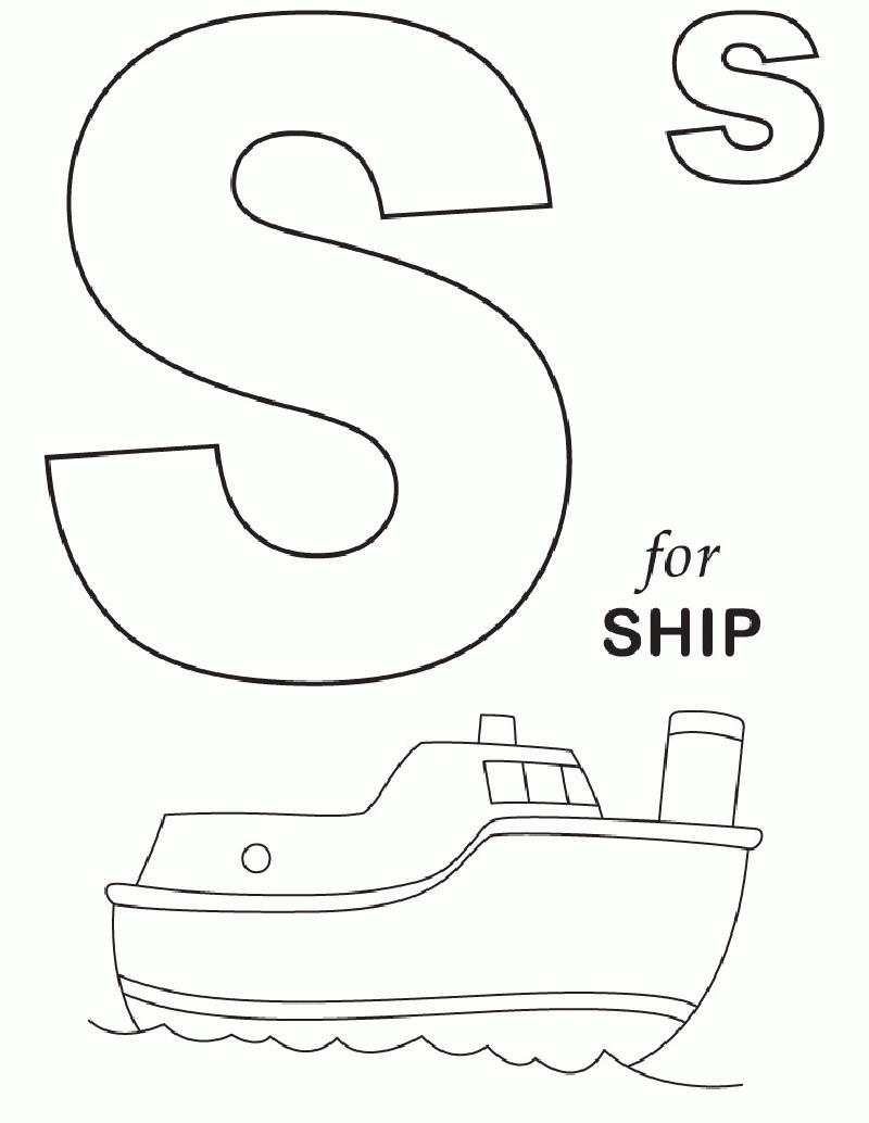 Hình tô màu cho bé - chữ S