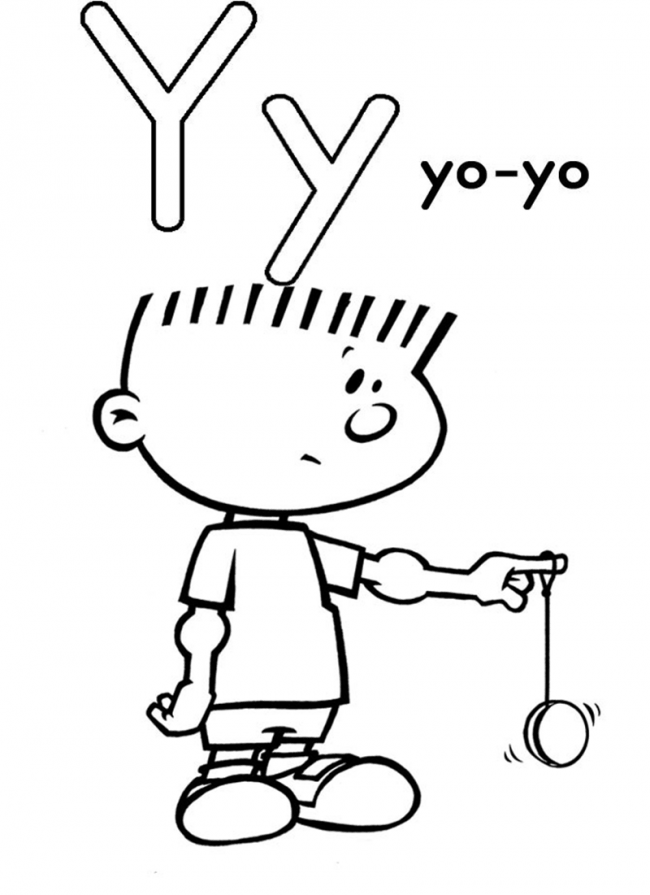 Hình tô màu cho bé - chữ Y