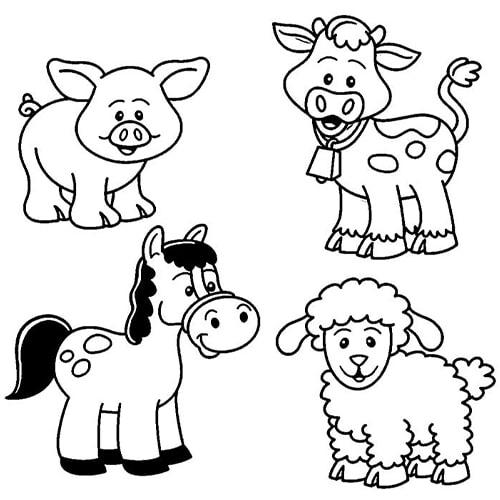 Hình tô màu động vật cho bé - 01